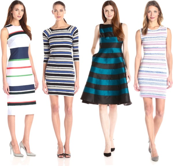 bright striped dresses