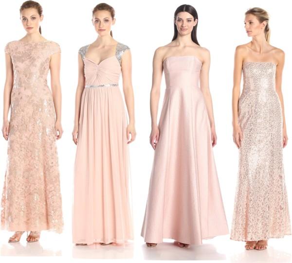 ultra feminine rose quartz long dresses