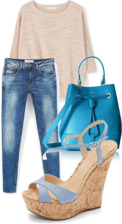 wedge sandals outfit for spring