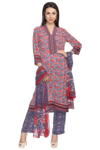 4 Womens Printed Salwar Suit