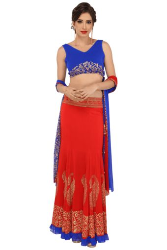 5 Womens Choli, Lehenga and Dupatta Set