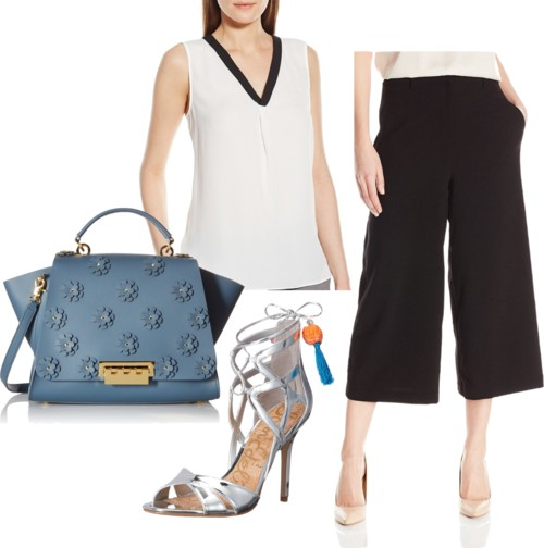Zip Front Cullot Pant Outfit