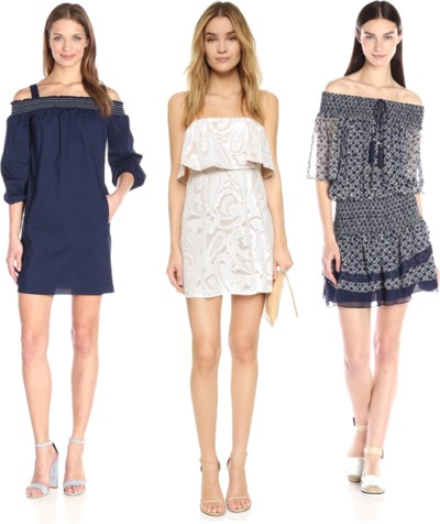 bare shoulder modern boho dresses for after-work parties
