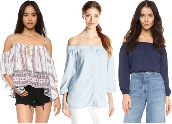cold + off shoulder modern boho blouses