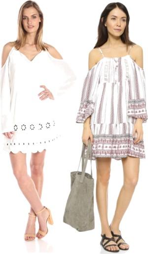 cold shoulder modern boho dresses for daytime