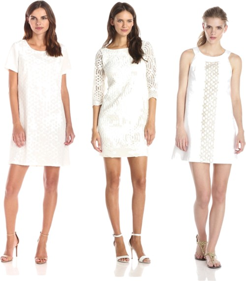 dress up and down white shift dresses