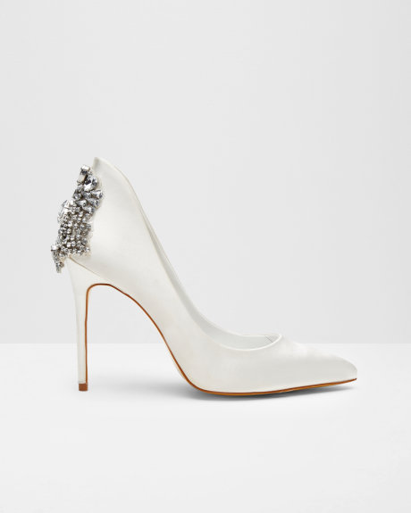 embellished court shoes
