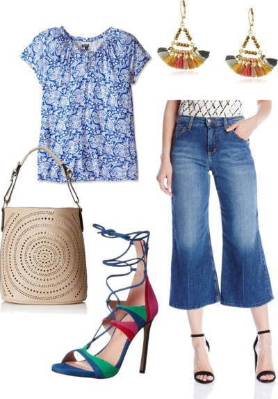 how to wear cropped gaucho jeans
