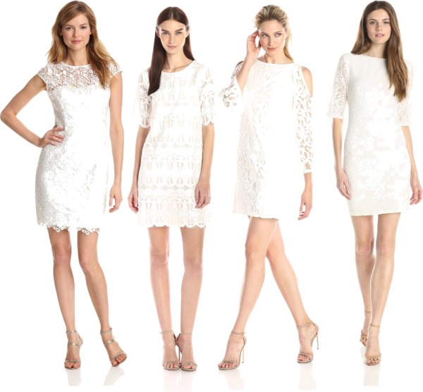 lace white dresses