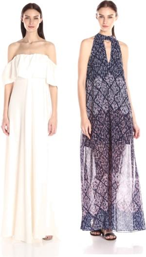 modern boho cold-shoulder maxi dresses