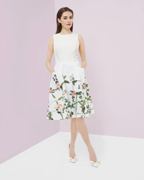 secret print dress