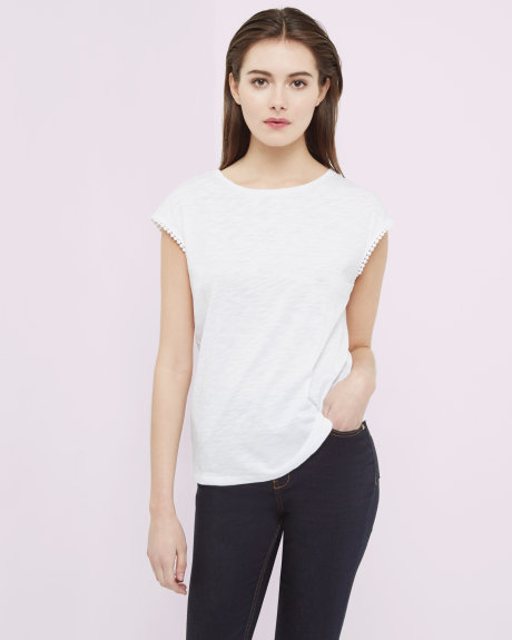 white trim T-shirt