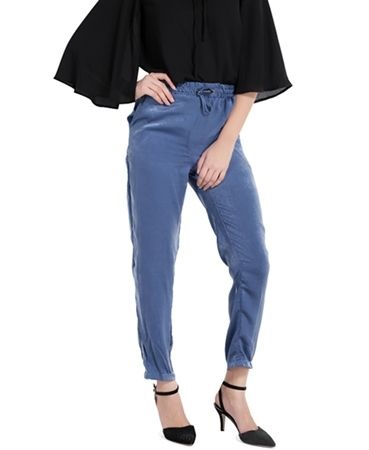 Cropped Pants with Tie Waist