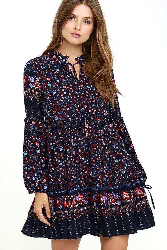 glamorous-sugar-sugar-navy-blue-floral-print-dress