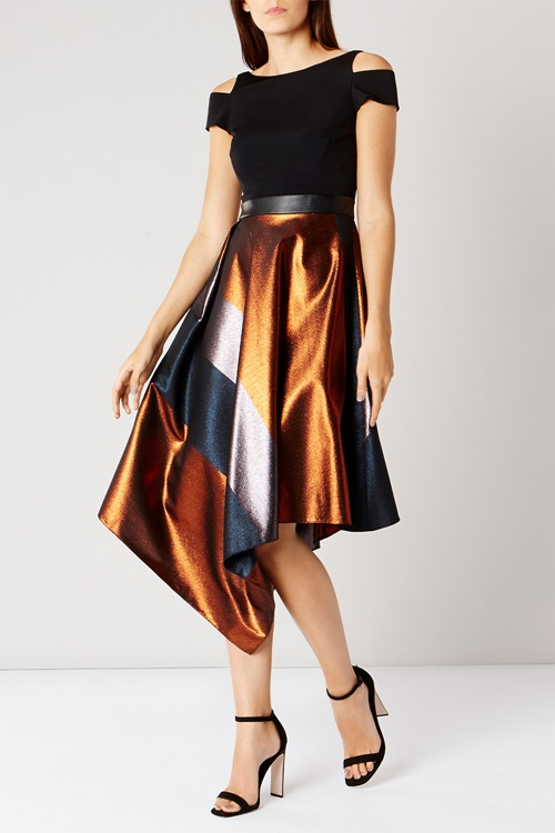 metallic-stripe-dress