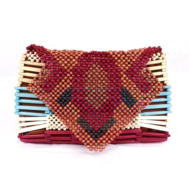 ARANAZ-Multi-Wood-Bead-Milo-Clutch