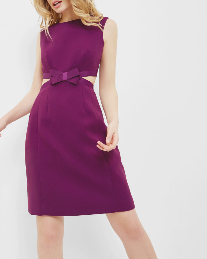 Cut out bow dress