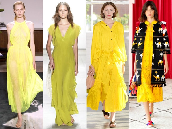 Shades of Yellow Trend for Spring