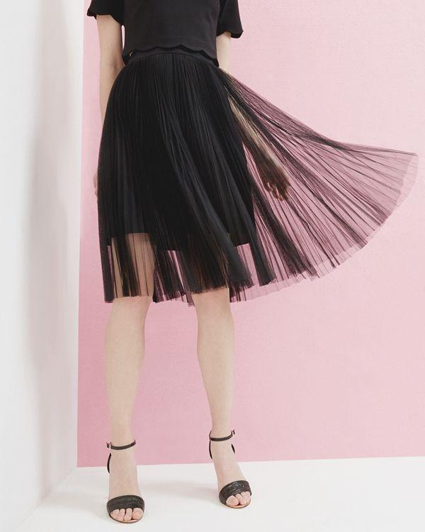 Pleated tulle skirt