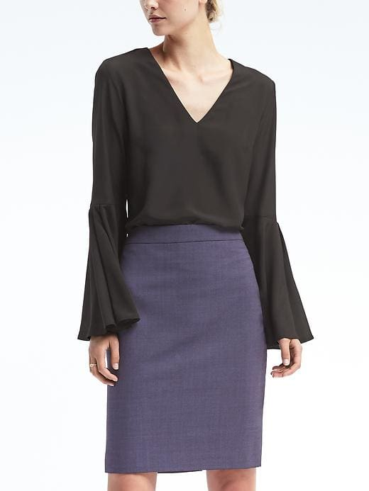 Easy Care Bell-Sleeve Top