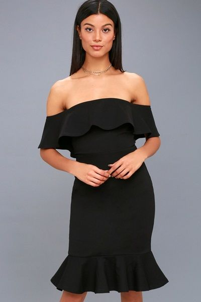 Black-Off-the-Shoulder-Bodycon-Dress