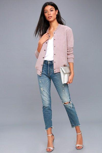 Lavender-Suede-Varsity-Jacket