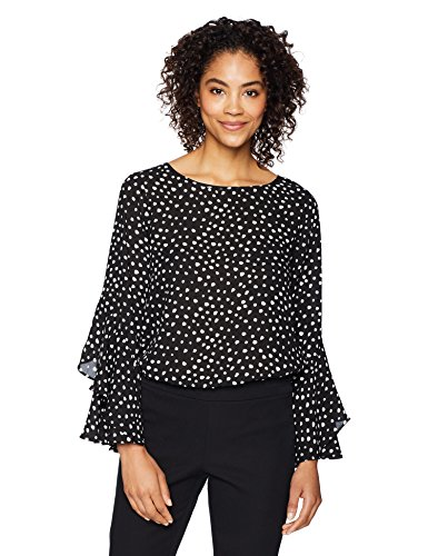 Long Sleeve Ruffle Fluted Blouse Top