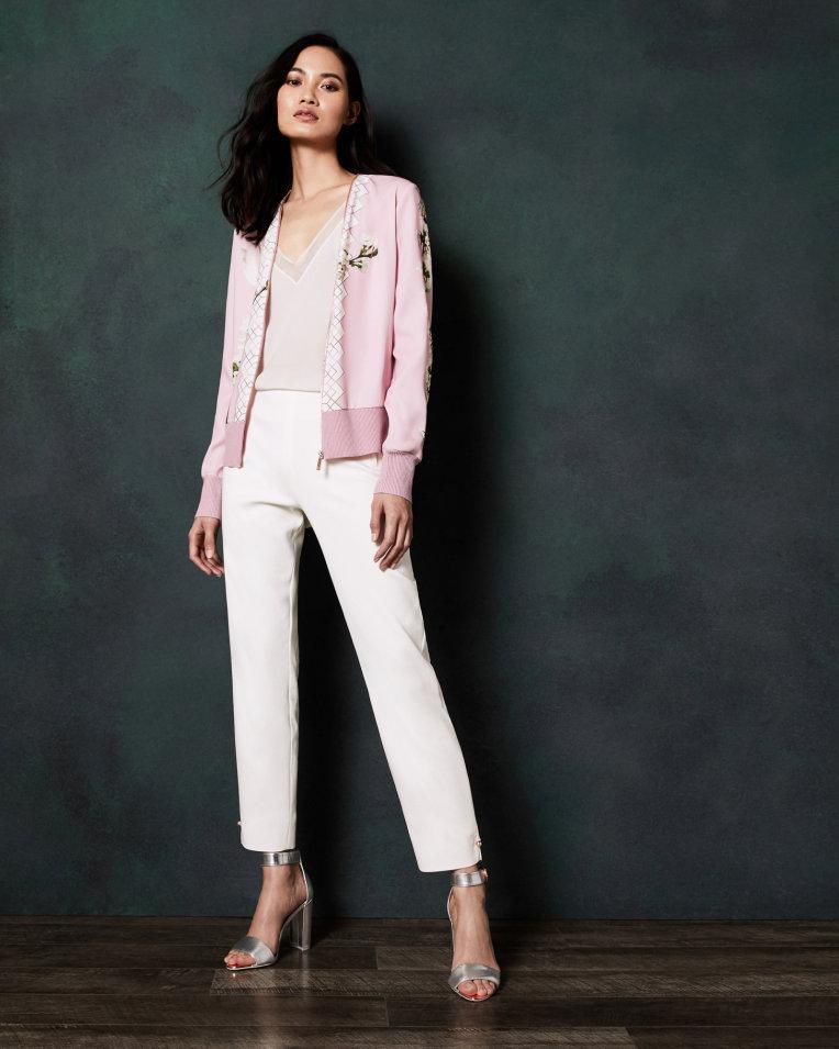 Harmony-print-zipped-cardigan