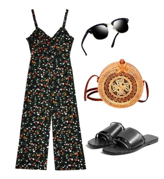 Mini Floral Print Jumpsuit Outfit