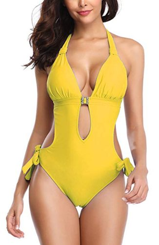 Monokini Swimsuits for Women One Piece Bathing Suit Cutout