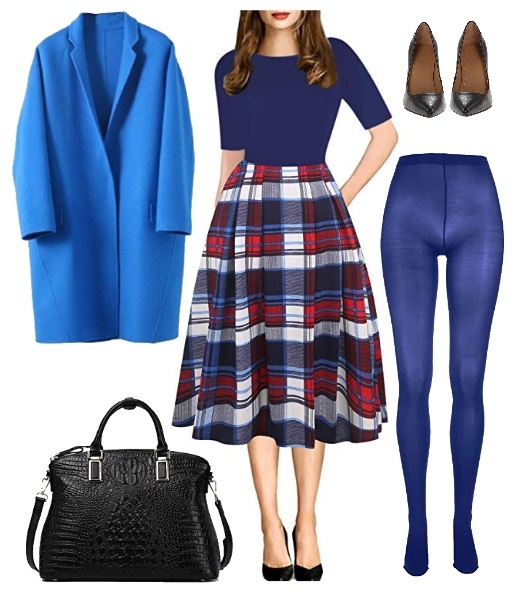 colorful tights fall outfit2