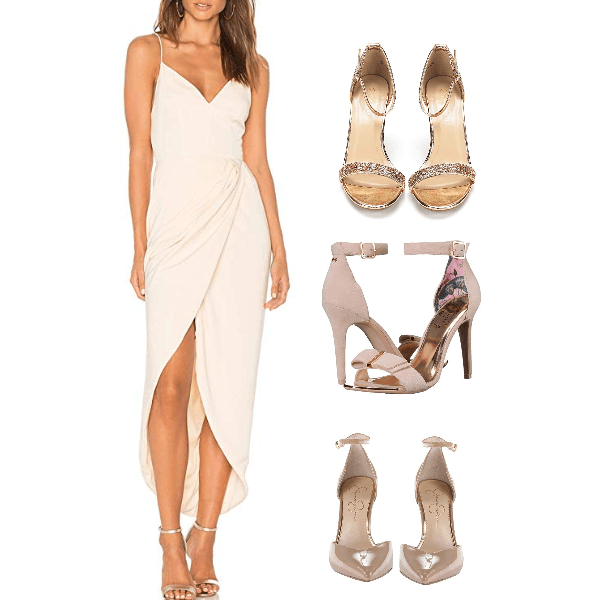 Fabulous in Nude Coctail Party Dress