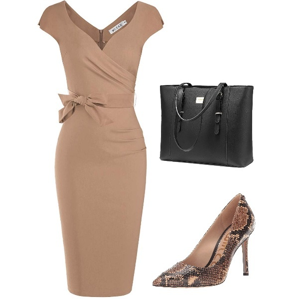 A Feminine Nude Outfit for Work
