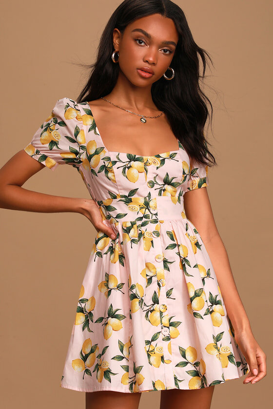 Puff Sleeve Skater Dress