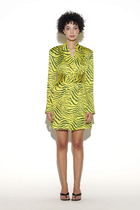 A Zebra Print Blazer Dress