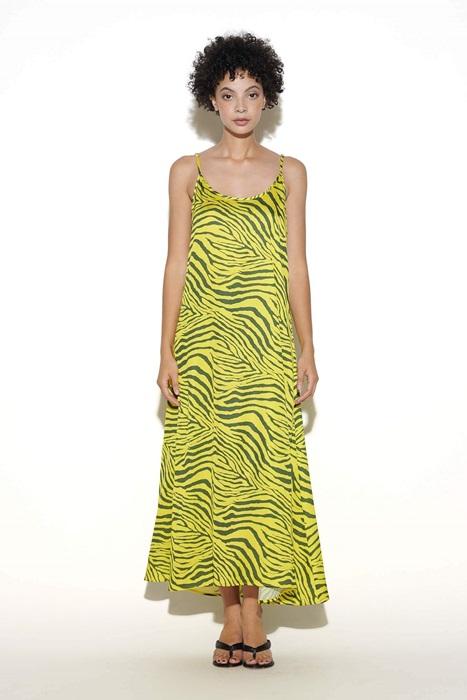 A Zebra Print Maxi Dress