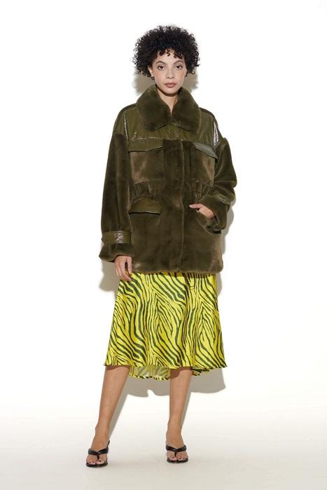 Zebra Maxi Skirt in Yellow