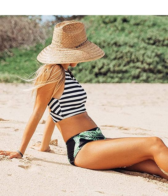 Two piece swimsuit high waisted