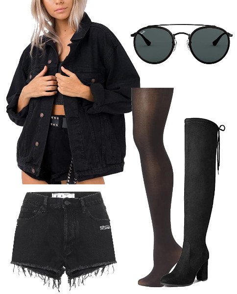 All-Black-Denim-Look