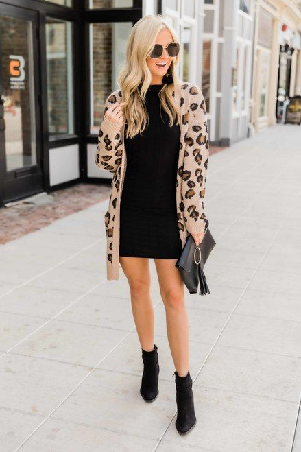 Leopard Print Cardigan Sweater Look7