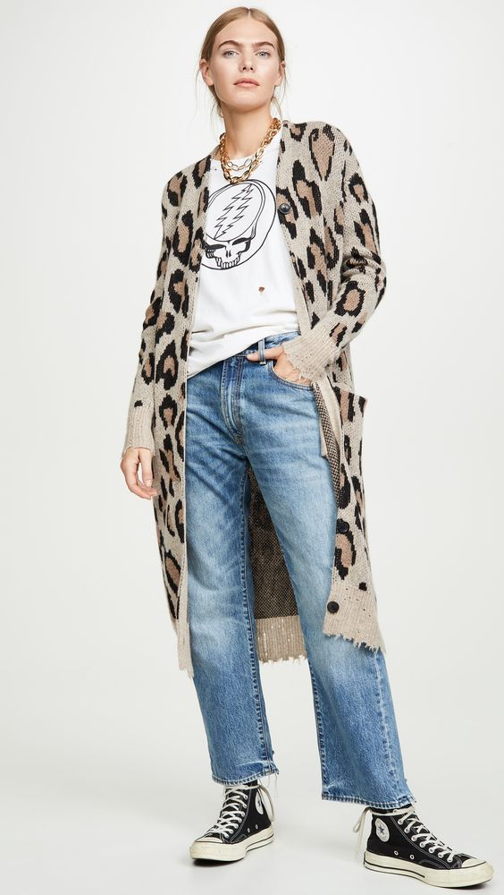Leopard Print Cardigan Sweater Look6