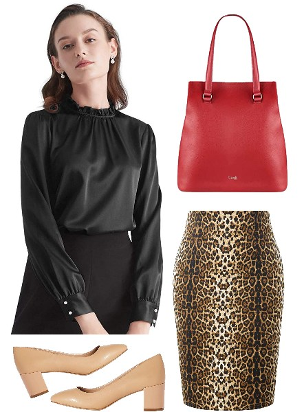 leopard-print-pencil-skirt-work-outfit
