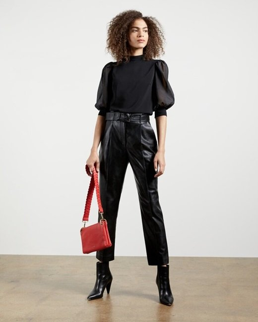Faux-leather-belted-trousers