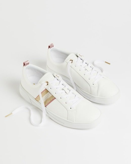 Leather-metallic-detail-webbing-trainers