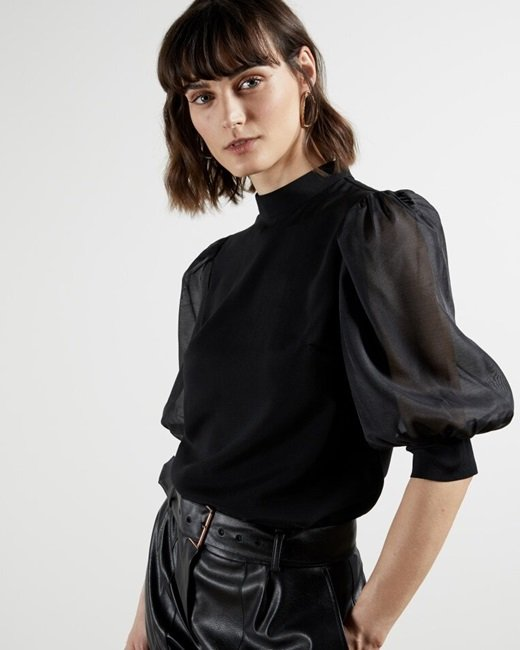 Organza-oversized-sleeve-top