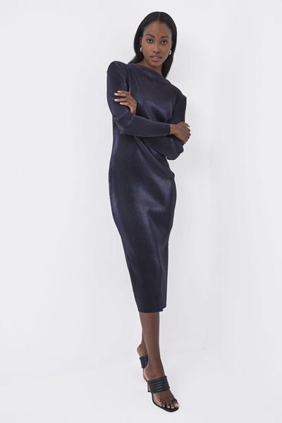 Taina Metallic Jersey Dress