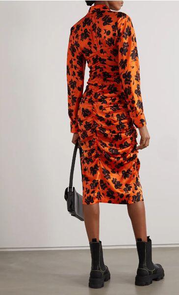 GANNI Ruched Dress