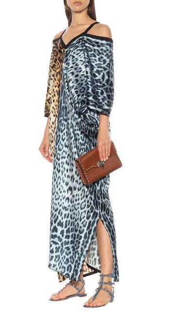 Leopard print kaftan