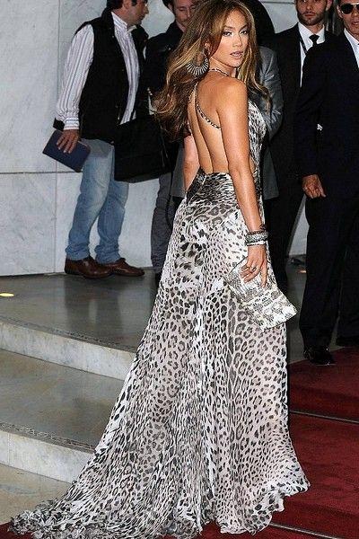 Jennifer Lopez Animal Print Maxi Dress