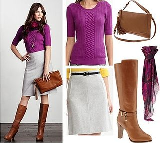 Elbow-Sleeve Ribbed Cable Sweater for Work